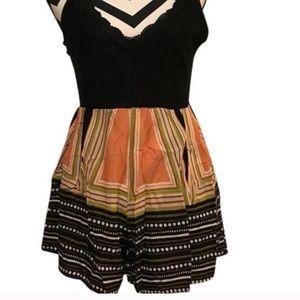 NEW Custom Boho ZIP Up Romper Dress XS